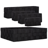 Black Woven Nylon Desk Tray Set